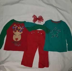 Holiday clothes size 6 with a bow